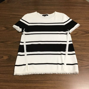 Short Sleeved Striped Sweater, Size M